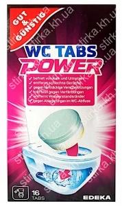 Чистящие таблетки для унитазов Gut and Gunstig WC Tabs Power 16 шт., Германия
