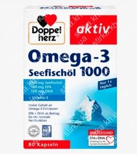 Капсулы Doppelherz Omega 3 Seefischol 1000 Kapseln 80 шт., Германия
