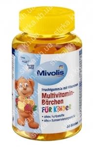 Мультивитамины Mivolis в форме мишек для детей, 60 шт., Германия
