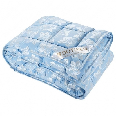 Одеяло зимнее Dotinem Rosalie тик голубой 195 х 215 см, Украина