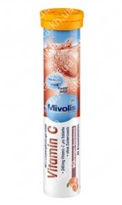 Шипучие таблетки Mivolis Витамин С 20 шт., Германия
