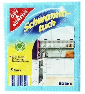 Спонжи Gut and Gunstig Schwammtuch 5 шт., Германия