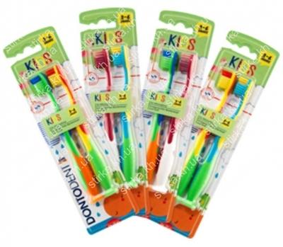Зубные щетки Dontodent Kids детские 2 шт., Германия